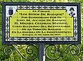Badajoz – Obelisco 2012 – Parque de los Sitios de Badajoz, placa.jpg