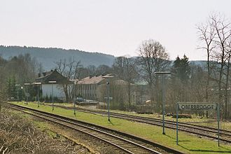 Hagen–Dieringhausen railway - The closed station at Oberbrügge with passing loop until 2012