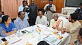 Bandaru Dattatreya chairing the review meeting with the Officials of State Agriculture Department & Crop Insurance Companies (Private & Public), in Hyderabad.jpg