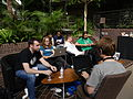 Barbican Conservatory at 4pm on day 2 of the Wikimania 2014 hackathon 02.jpg