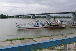 Le fleuve Ob, à Barnaoul.