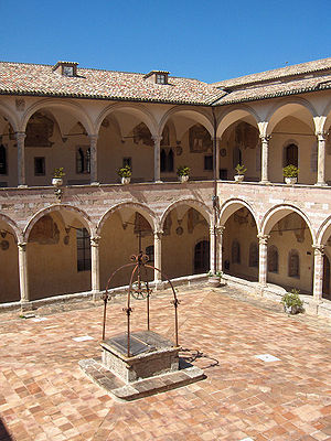 Sacro Convento - Courtyard of the friary.