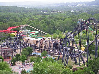 Six Flags St. Louis - Image: Batman The Ride St. Louis