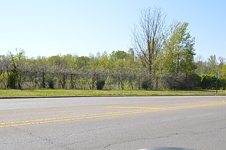 National Register of Historic Places listings in Alcorn County, Mississippi - Image: Battery Williams eastern portion