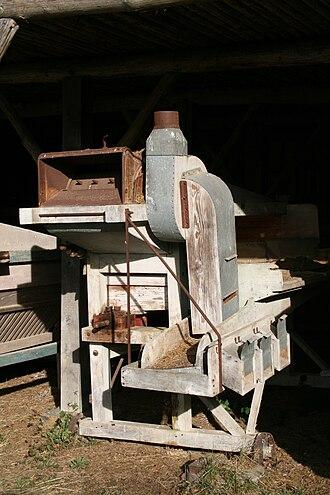 Threshing machine - Open-air museum in Saint-Hubert, Belgium.