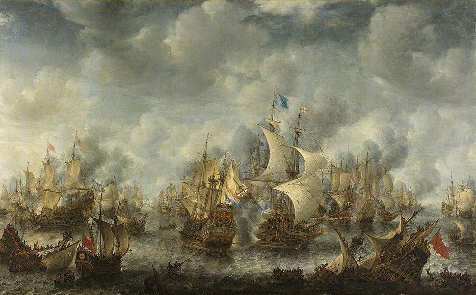 Battle of Scheveningen (Slag bij Ter Heijde)(Jan Abrahamsz. Beerstraten)