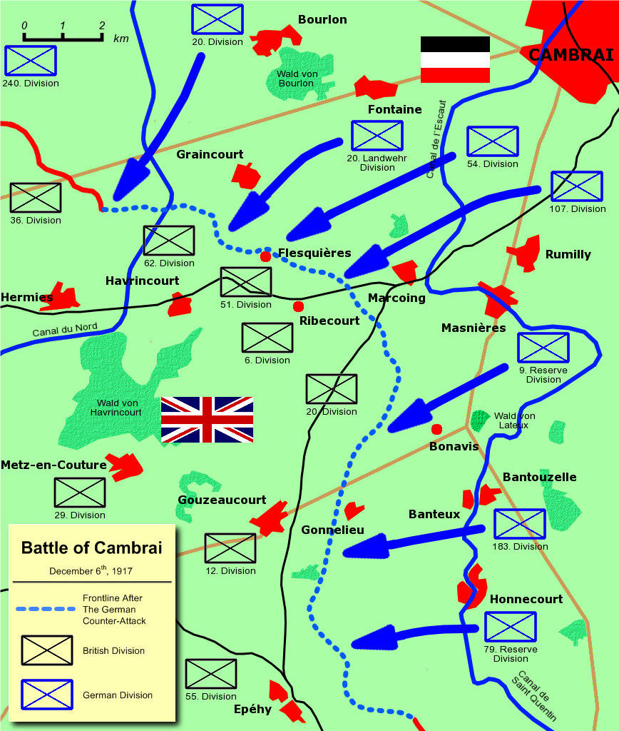 Battle Of Cambrai 1917 Howling Pixel Story 4 German Counter Offensive