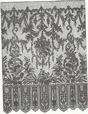Bayeux lace - Bayeux lace, late 19C