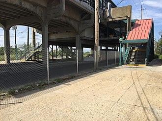 Beach 44th Street (IND Rockaway Line) - Stairs at Beach 44th Street and Rockaway Freeway.