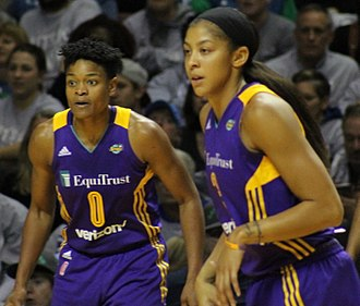 Alana Beard - Beard and Candace Parker during the 2017 WNBA Finals