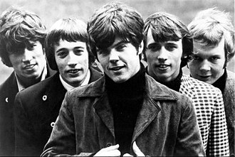 Bee Gees - The Bee Gees in 1967 (left to right: Barry Gibb, Robin Gibb, Vince Melouney, Maurice Gibb and Colin Petersen)