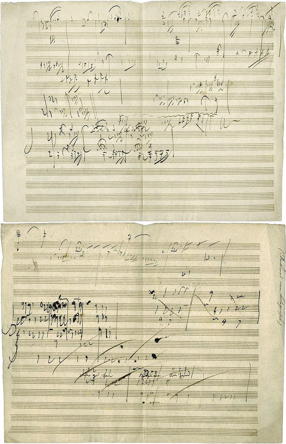 Beethoven opus 101 manuscript