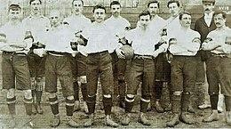 Fußballmannschaft in Uniform