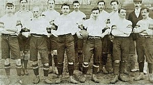 Belgium national football team - The first Belgium A-squad in 1901 featured four Englishmen.