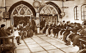 Four Sephardic Synagogues - Installation of the Chacham Bashi of Jerusalem at the synagogue in 1893