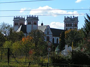 St. Matthias' Abbey - Rear view of the abbey.