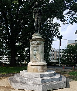 "Benjamin Rush - Statue of Benjamin Rush on ""Navy Hill"" which is, due to security, in a section of Washington, DC inaccessible to tourists and foot traffic"