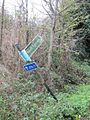 Bent sign by the path - geograph.org.uk - 1581792.jpg