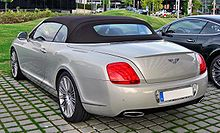 Bentley Continental GTC Speed 20090720 rear-1.JPG