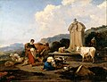 Berchem, Nicolaes Pietersz - Roman Fountain with Cattle and Figures (Le Midi) - Google Art Project.jpg