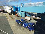 Bergen Airport, Flesland, Norway Norwegian Air Shuttle jet bridge 2015-09-21.jpg