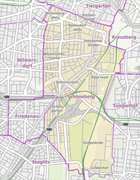 Schöneberg - Wikipedia's Schöneberg as translated by GramTrans