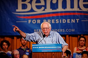 Democratic Party presidential primaries, 2016 - Bernie Sanders speaks in Littleton, New Hampshire