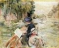 Berthe Morisot - Mulher com criança num bote.JPG