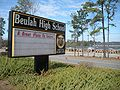 Beulah Alabama Beulah High School Sign.JPG
