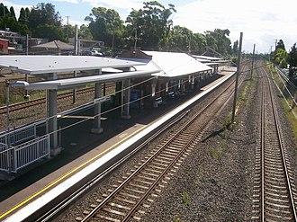 Bexley North railway station - Westbound view in December 2011
