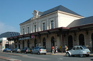 railway station in Biarritz, France