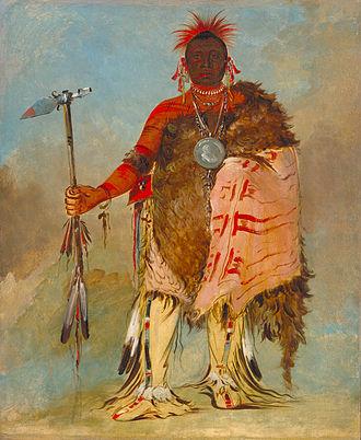 Buffalo robe - Image: Big Elk George Catlin 1832