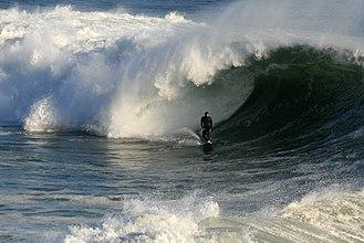 Wind wave - Big wave breaking