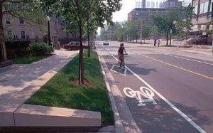 Complete streets - Image: Bike diamond lane