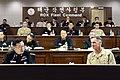 Bill Byrne, commander of U.S. Naval Forces Korea, and Han, Dong-Jin, chief of staff for Commander, Republic of Korea Fleet.jpg