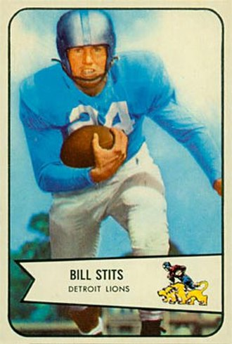 Bill Stits - Stits on a 1954 Bowman football card