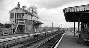 Binegar railway station - Binegar Station in 1963