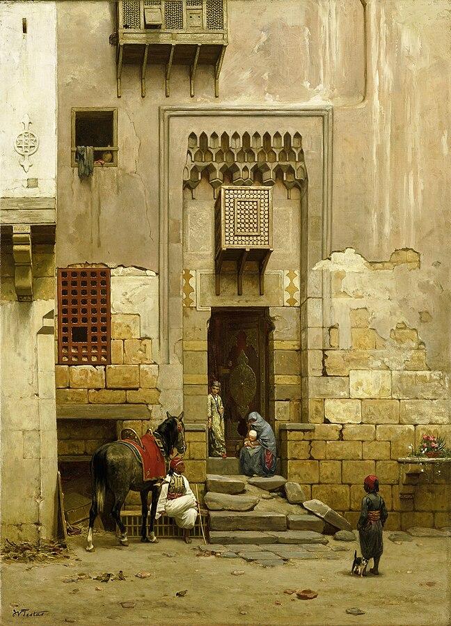 Cour d'une maison au Caire