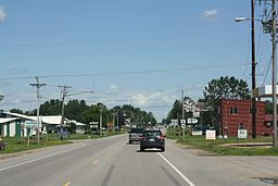 Birnamwood Wisconsin Downtown North July 2011 US 45.jpg