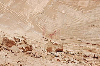 National Register of Historic Places listings in Emery County, Utah - Image: Black Dragon Canyon Pictographs Utah
