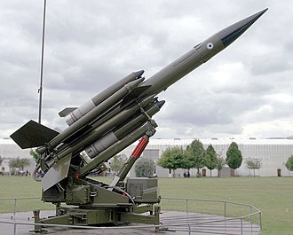 Bloodhound (missile) - A Bloodhound missile at the RAF Museum, Hendon, London.