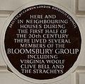 Bloomsbury Group 51 Gordon Square blue plaque.jpg
