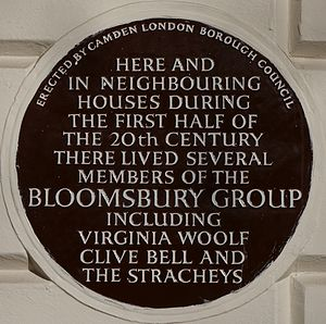 Bloomsbury Group - Blue plaque, 51 Gordon Square, London