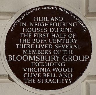Bloomsbury Group - Blue plaque, 51 Gordon Square, London