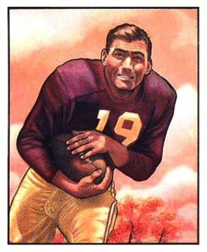 Rob Goode - Goode on a 1950 Bowman football card