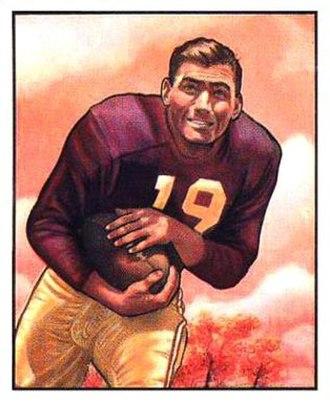 Rob Goode - Goode on a 1950 Bowman football card
