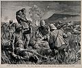 Boer War; first aid to the wounded on the battlefield at Col Wellcome V0015510.jpg
