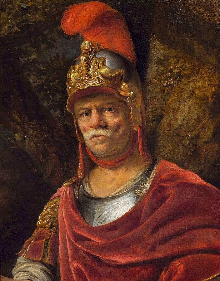 Man in golden helmet (Mars)