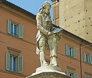Luigi Galvani - Luigi Galvani's monument in Piazza Luigi Galvani (Luigi Galvani Square), in Bologna