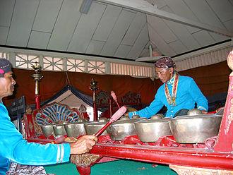 Gamelan Sekaten - Bonangs in the Gamelan Sekati, Yogyakarta